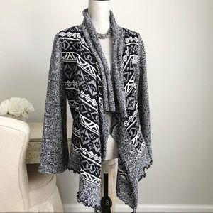 Style&Co Draped Shawl Collar Open Cardigan Sweater